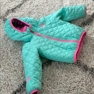 Quilted North Face toddler/infant fall coat
